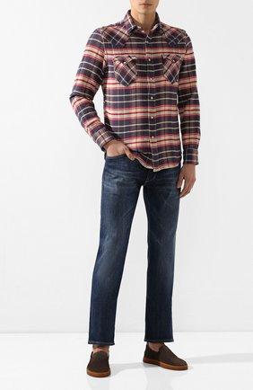 Мужские джинсы BOSS синего цвета, арт. 50421082   Фото 2