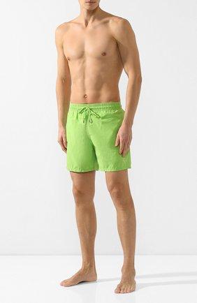 Мужские плавки-шорты VILEBREQUIN зеленого цвета, арт. MOOC0D01 | Фото 2