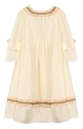 Детское шелковое платье GUCCI белого цвета, арт. 570945/ZB644 | Фото 2