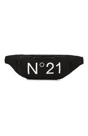Детская поясная сумка NO. 21 черного цвета, арт. N2143I/N0043/N21W1U | Фото 1