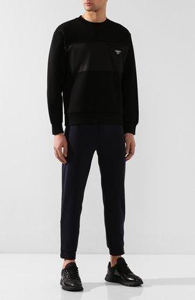Мужские комбинированные кроссовки PRADA черного цвета, арт. 4E3463-3KYU-F0002 | Фото 2