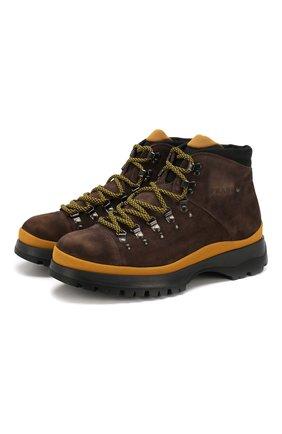 Мужские замшевые ботинки PRADA коричневого цвета, арт. 2TE145-Z5O-F0003 | Фото 1