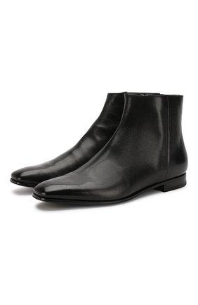 Мужские кожаные сапоги PRADA черного цвета, арт. 2TB045-683-F0002 | Фото 1