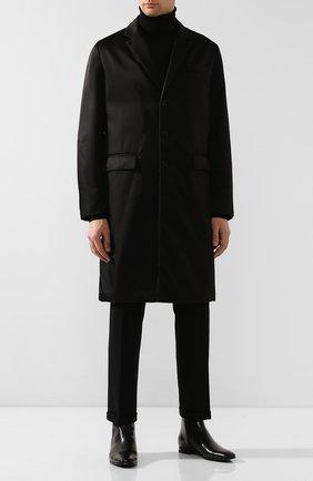 Мужские кожаные сапоги PRADA черного цвета, арт. 2TB045-683-F0002 | Фото 2