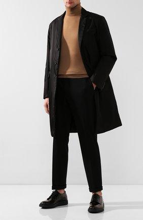 Мужской кожаные дерби PRADA коричневого цвета, арт. 2EE311-P39-F0038 | Фото 2