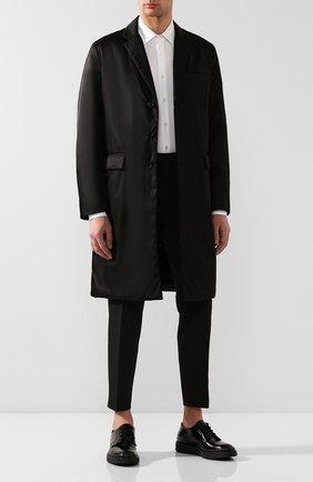 Мужской кожаные дерби PRADA черного цвета, арт. 2EE311-P39-F0002 | Фото 2