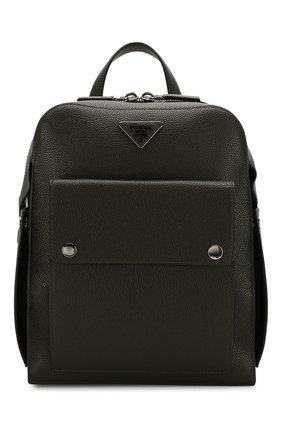 Мужской кожаный рюкзак PRADA темно-зеленого цвета, арт. 2VZ040-2EYT-E24-OOO | Фото 1