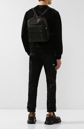 Мужской кожаный рюкзак PRADA темно-зеленого цвета, арт. 2VZ040-2EYT-E24-OOO | Фото 2