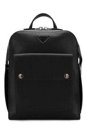 Мужской кожаный рюкзак PRADA черного цвета, арт. 2VZ040-2EYT-E24-OOO | Фото 1