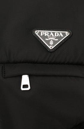Мужская меховая шапка-ушанка PRADA черного цвета, арт. 2HC170-2CE1-F0002   Фото 3