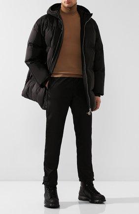 Мужские кожаные ботинки PRADA черного цвета, арт. 2TE157-3A6N-F0002 | Фото 2