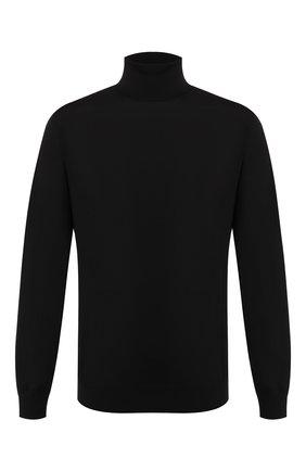Мужской шерстяная водолазка PRADA черного цвета, арт. UMR185-C5W-F0002 | Фото 1