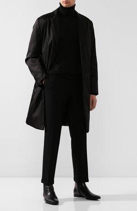 Мужской шерстяная водолазка PRADA черного цвета, арт. UMR185-C5W-F0002 | Фото 2