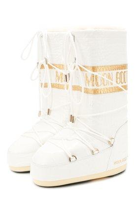 Женские сапоги MOON BOOT белого цвета, арт. 14025600 | Фото 1