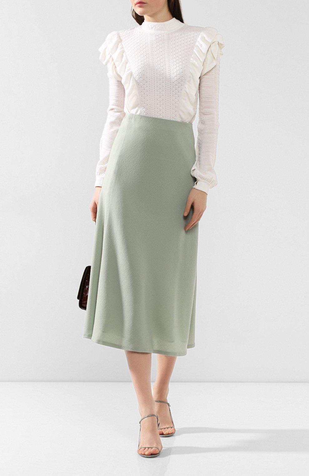 Женская шерстяная юбка JM STUDIO зеленого цвета, арт. FW192018 | Фото 2