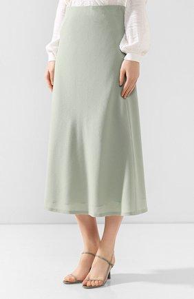 Женская шерстяная юбка JM STUDIO зеленого цвета, арт. FW192018 | Фото 3