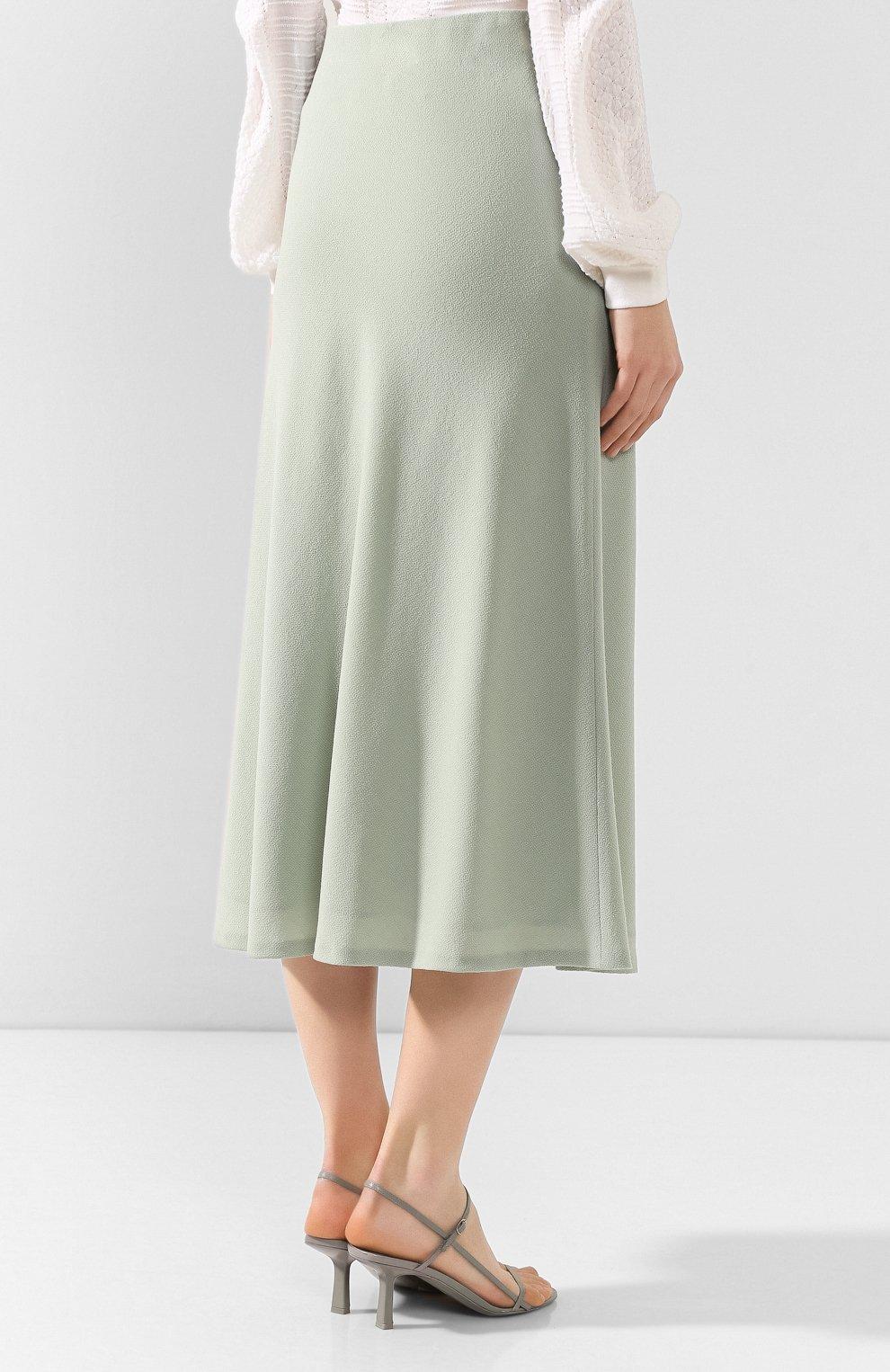 Женская шерстяная юбка JM STUDIO зеленого цвета, арт. FW192018 | Фото 4