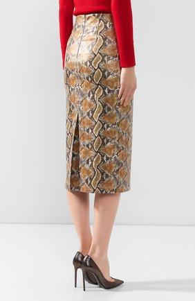 Женская юбка с принтом JM STUDIO разноцветного цвета, арт. FW192010   Фото 4