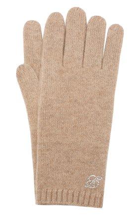Женские кашемировые перчатки zermatt BALMUIR светло-бежевого цвета, арт. ZERMATT GL0VES B-L0G0 | Фото 1