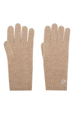 Женские кашемировые перчатки zermatt BALMUIR светло-бежевого цвета, арт. ZERMATT GL0VES B-L0G0 | Фото 2
