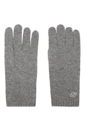 Женские кашемировые перчатки zermatt BALMUIR серого цвета, арт. ZERMATT GL0VES B-L0G0/MELANGE | Фото 2
