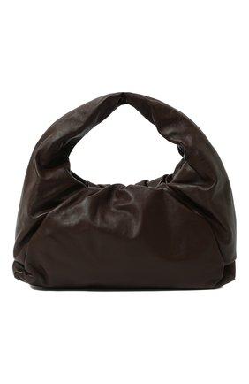 Женская сумка shoulder pouch BOTTEGA VENETA коричневого цвета, арт. 610524/VCP40 | Фото 1 (Материал: Натуральная кожа; Размер: large; Сумки-технические: Сумки top-handle)