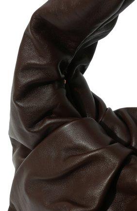 Женская сумка shoulder pouch BOTTEGA VENETA коричневого цвета, арт. 610524/VCP40 | Фото 3