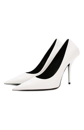 Женская кожаные туфли square knife BALENCIAGA белого цвета, арт. 562879/WAWN0 | Фото 1