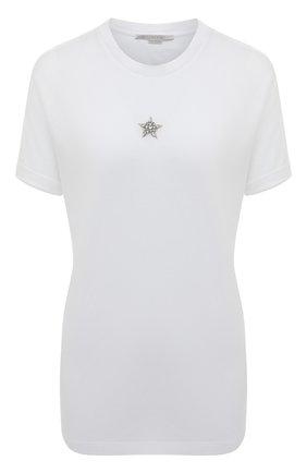 Женская хлопковая футболка STELLA MCCARTNEY белого цвета, арт. 457142/SLW23 | Фото 1