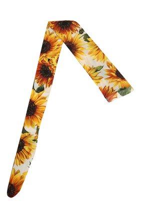 Женские колготки с принтом DOLCE & GABBANA желтого цвета, арт. FC163A/HSM0V | Фото 1