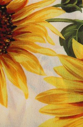 Женские колготки с принтом DOLCE & GABBANA желтого цвета, арт. FC163A/HSM0V | Фото 2