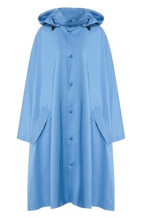 Женский плащ с капюшоном BALENCIAGA голубого цвета, арт. 571267/TYD36 | Фото 1