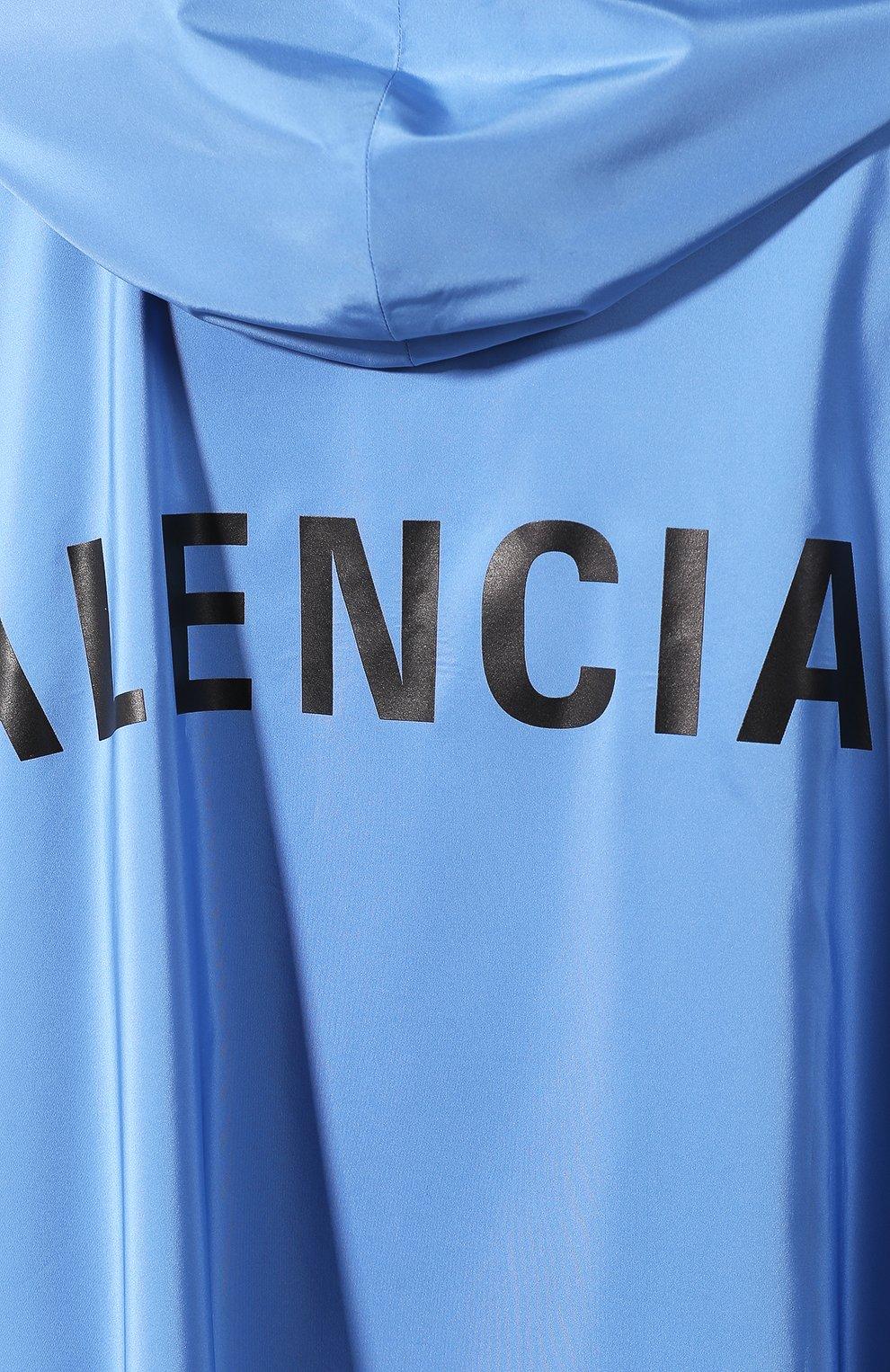Женский плащ с капюшоном BALENCIAGA голубого цвета, арт. 571267/TYD36 | Фото 5