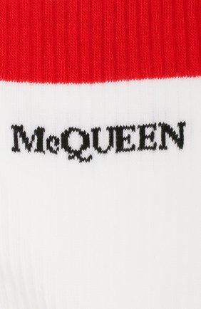 Женские хлопковые носки ALEXANDER MCQUEEN белого цвета, арт. 604519/3B74Q | Фото 2