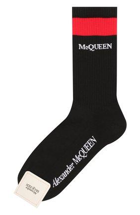 Женские хлопковые носки ALEXANDER MCQUEEN черного цвета, арт. 604519/3B74Q | Фото 1