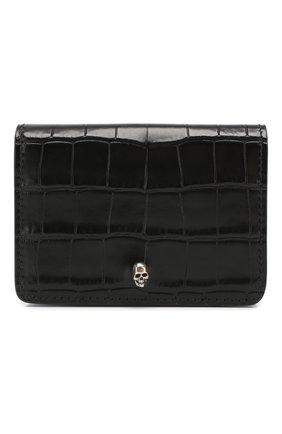 Мужской кожаный футляр для кредитных карт ALEXANDER MCQUEEN черного цвета, арт. 548679/DZT0Y | Фото 1