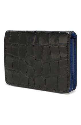 Мужской кожаный футляр для кредитных карт ALEXANDER MCQUEEN черного цвета, арт. 548679/DZT0Y | Фото 2