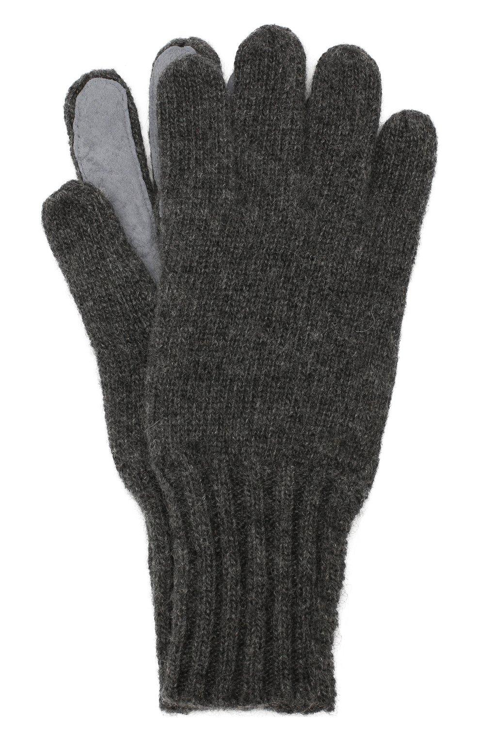 Мужские кашемировые перчатки DENTS темно-серого цвета, арт. 5-4522 | Фото 1