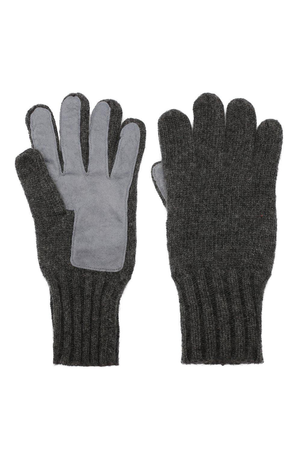 Мужские кашемировые перчатки DENTS темно-серого цвета, арт. 5-4522 | Фото 2