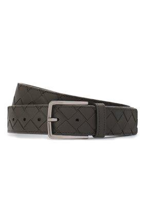 Мужской кожаный ремень BOTTEGA VENETA серого цвета, арт. 609182/VCPQ3 | Фото 1