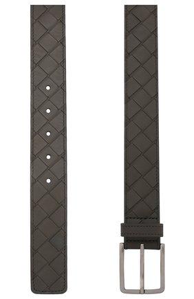 Мужской кожаный ремень BOTTEGA VENETA серого цвета, арт. 609182/VCPQ3 | Фото 2
