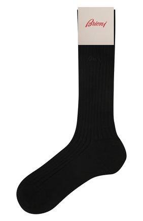 Мужские хлопковые носки BRIONI черного цвета, арт. 0VMC00/P9Z03 | Фото 1