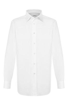 Мужская хлопковая сорочка BRIONI белого цвета, арт. RCL42V/PZ023 | Фото 1