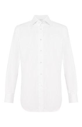 Мужская хлопковая сорочка BRIONI белого цвета, арт. RCLU2R/P703W   Фото 1