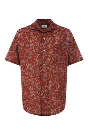 Рубашка из смеси льна и хлопка   Фото №1
