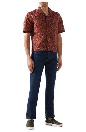Рубашка из смеси льна и хлопка   Фото №2