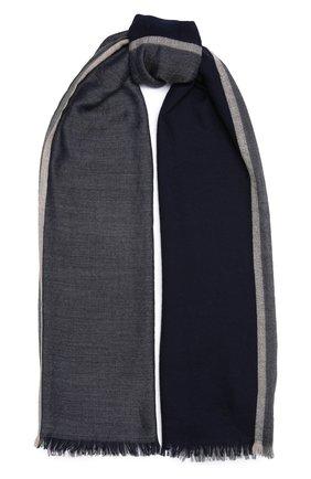 Мужской шарф из смеси кашемира и шелка BRUNELLO CUCINELLI синего цвета, арт. MSC606AV | Фото 1