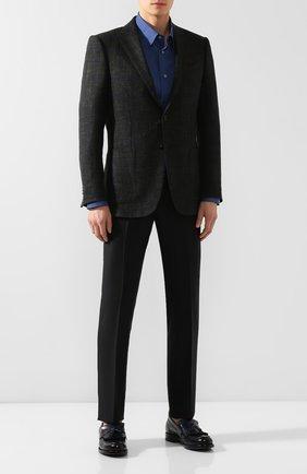 Мужские кожаные лоферы O`KEEFFE темно-синего цвета, арт. 0K1236/PARASHINE | Фото 2