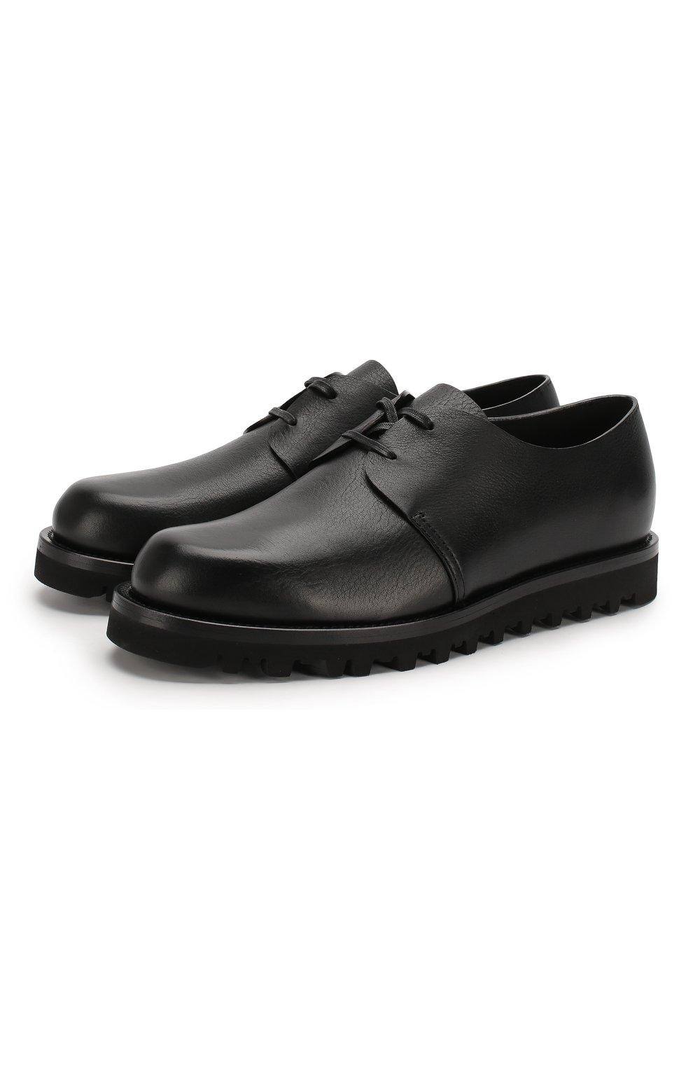 Мужские кожаные дерби GIORGIO ARMANI черного цвета, арт. X2C635/XF414 | Фото 1