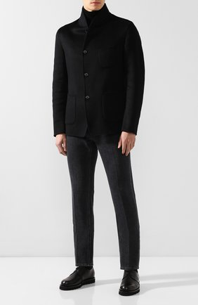 Мужские кожаные дерби GIORGIO ARMANI черного цвета, арт. X2C635/XF414 | Фото 2